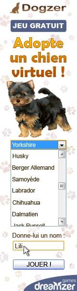 Dogzer : jeu gratuit sur Internet, elever un chien virtuel